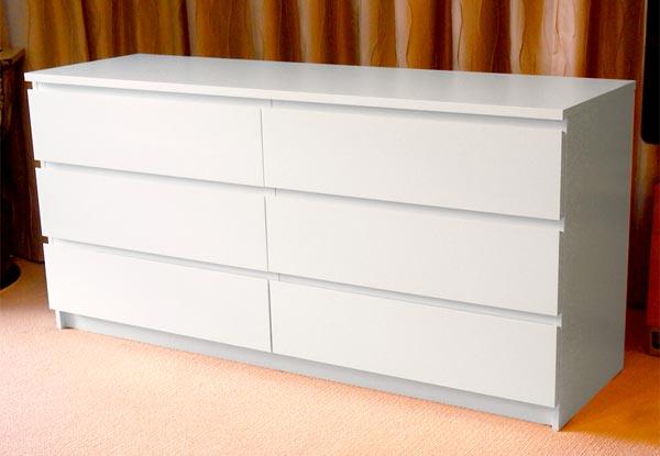 Ikea Malm Six Drawer Lowboy Grabone Nz