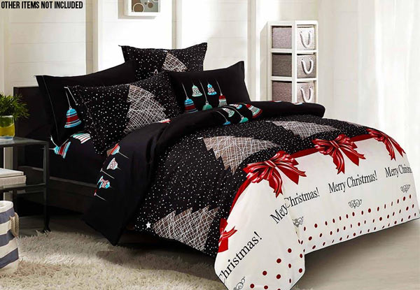Merry Christmas Duvet Cover Set - Option for Standard Pillowcases