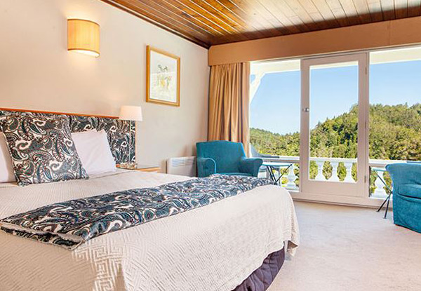 One-Night Boutique Waitakere Ranges Escape at Heritage Waitakere Estate for Two incl. Cooked Breakfast, Late Checkout - Option for a Six-Course Degustation Package
