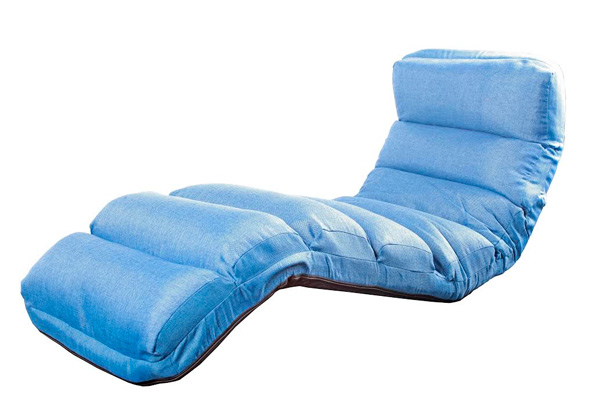 Blue Floor-Folding Lounge Chair