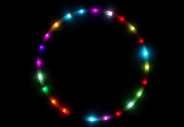 LED Spinning Hula Hoop - Two Sizes Available