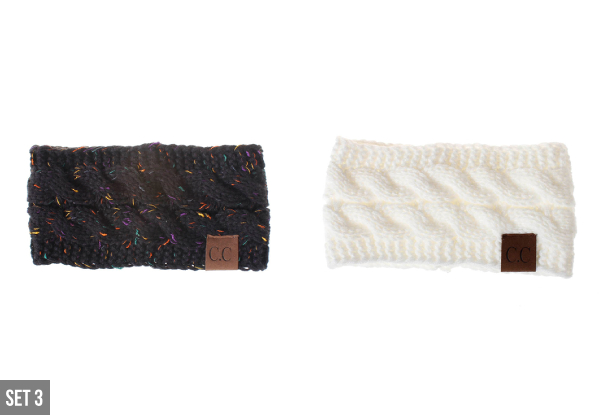 Two-Pack of Knitted Headbands - Three Options Available