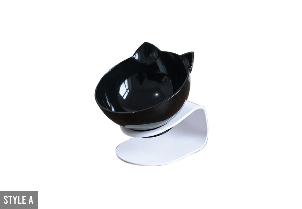 Raised, Tilted, Non-Slip Cat Bowl - Two Styles & Three Colours Available