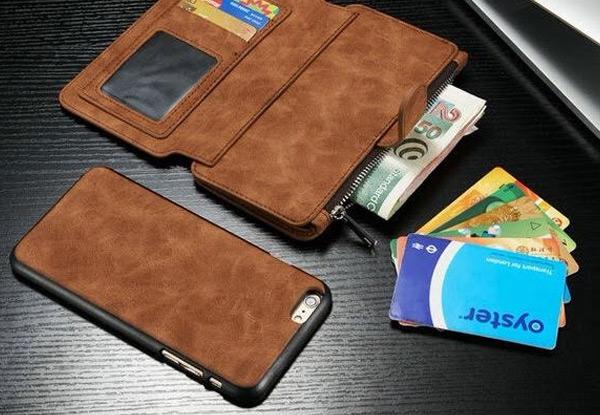 online retailer 9c2be 95166 Leather Wallet & iPhone Case