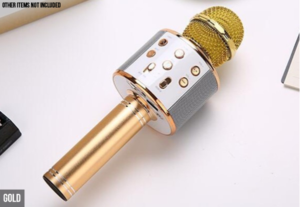 Portable Wireless Karaoke Microphone - Three Colours Available