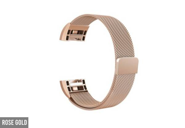 Milanese Replacement Band Compatible with Fitbit Charge 2 or 3 - Two Sizes & Four Colours Available