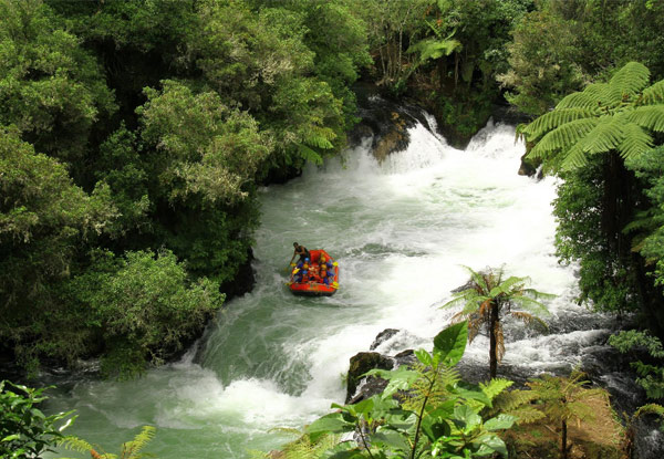 White Water Adventure Rafting Experience on The Kaituna River for One Person – Options for up to Six People Available