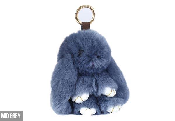 Fluffy Bunny Key Ring Grabone Nz