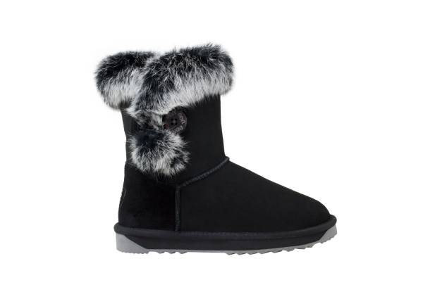 Fur Trim Bailey Button Memory Foam UGG Boots - Eight Sizes Available