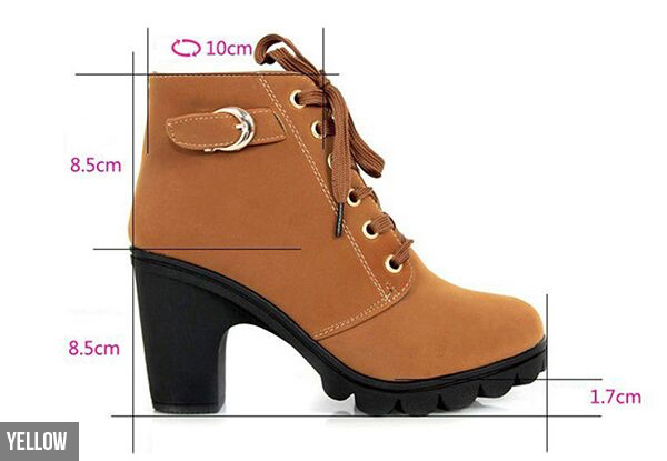 Block Heel Ankle Boots - Four Colours & Sizes Available with Free Delivery