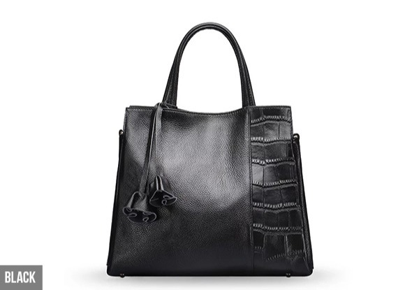 Genuine Leather Handbag - Four Colours Available