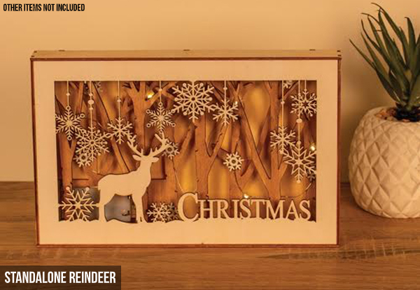 LED Christmas Lightbox - Two Styles Available & Option for Two