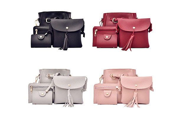 Four-Piece Handbag Set - Four Colours Available