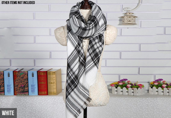 Checkered  Blanket Scarf - Five Colours Available with Free Delivery