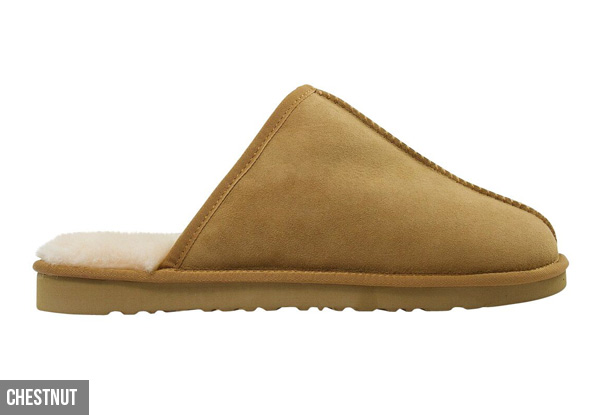 Auzland Men's 'Andy' Classic Australian Sheepskin UGG Scuffs - Two Colours Available