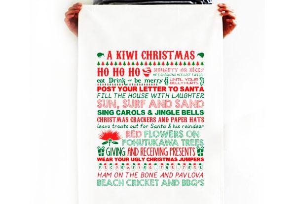 a kiwi christmas tea towel • grabone nz