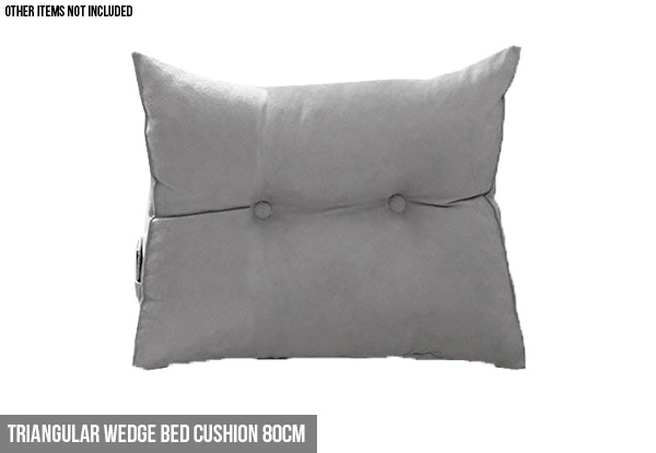 Triangular Wedge Bed Cushion - Three Sizes Available & Option for Two-Pack
