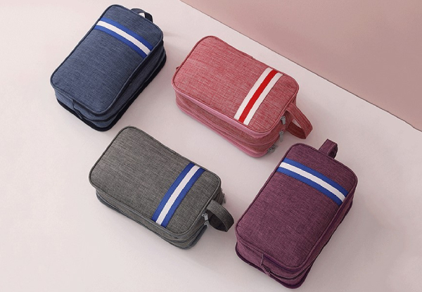Wet & Dry Travel Makeup & Toiletries Bag - Four Colours Available with Free Delivery