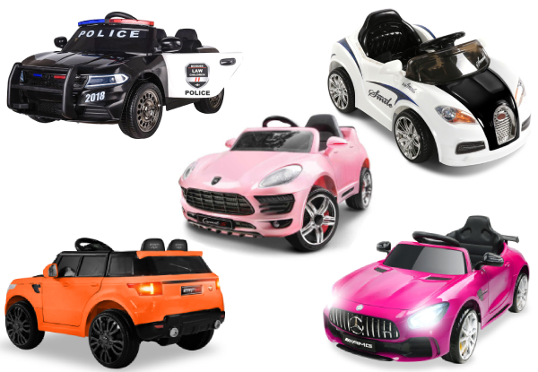 Kids Ride-On Car Range - 10 Styles Available
