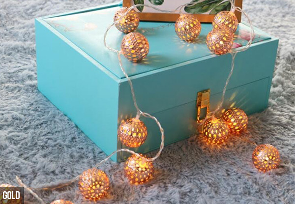 Moroccan Ball String Lights - Two Colours Available