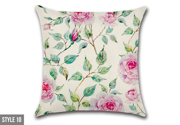 Wild Flower Cushion Cover - 10 Styles Available