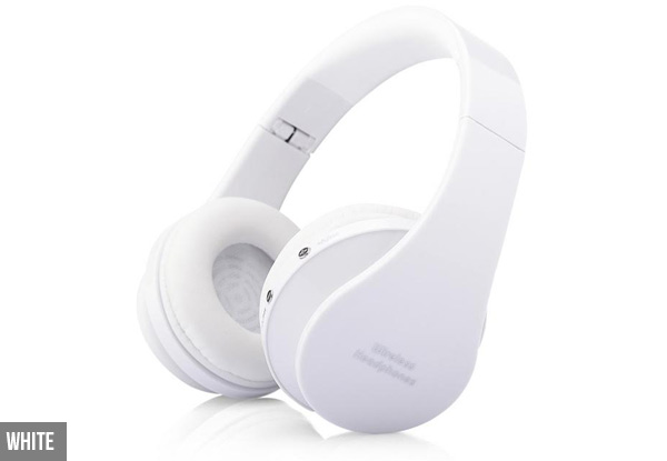 Wireless Bluetooth Foldable Headphones - Four Colours Available with Free Delivery