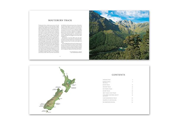 'Great Walks Of New Zealand' Hardcover Book