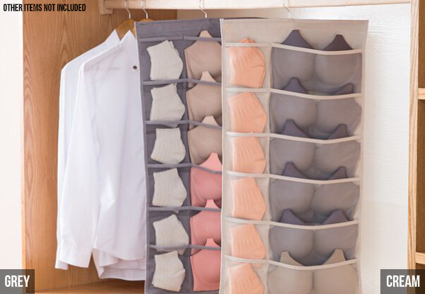 Hanging Storage Organiser - Two Colours  Available with Free Delivery
