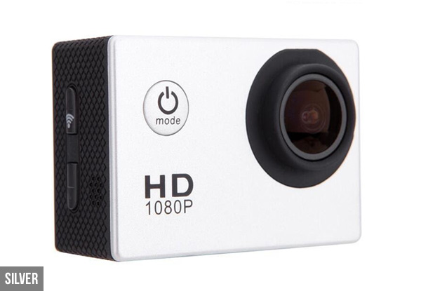 Full HD Waterproof Action Camera - Five Colours Available with Free Metro Delivery