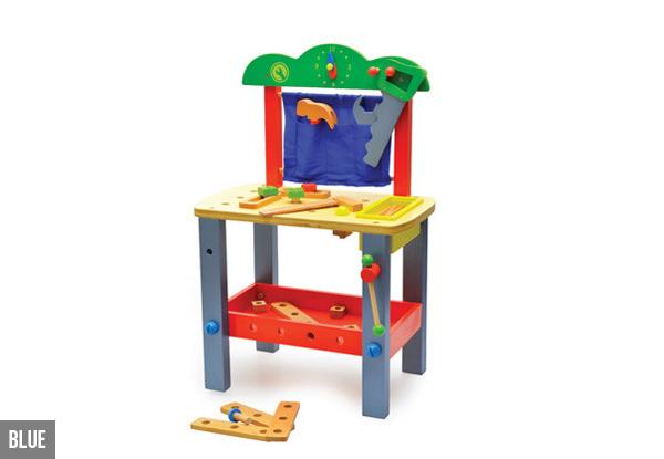 kids wooden tool bench set grabone nz. Black Bedroom Furniture Sets. Home Design Ideas
