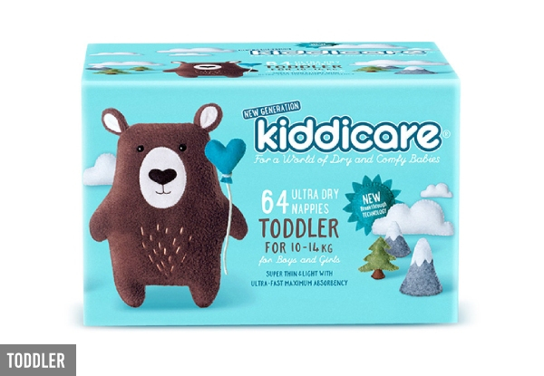 Kiddicare Nappies Range - Four Sizes Available & Option for Two-Pack