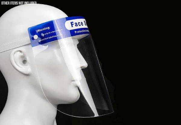 Adjustable Protective Face Shield - Options for 1, 5, 10, or 100