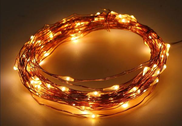 Solar Copper Seed String Light Grabone Nz