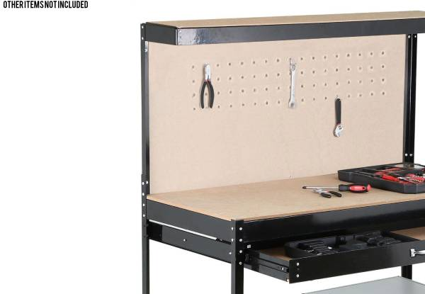 Steel Garage Shelving Storage Workbench with Single Drawer