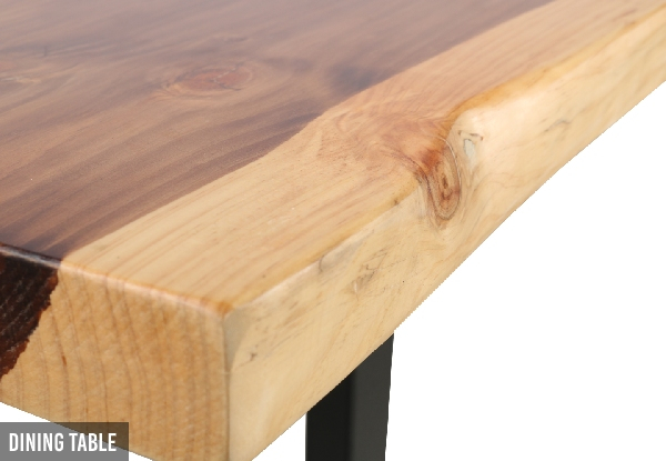 Tasman Solid NZ Pine Live Edge Dining Furniture Range - Option for Bench or Dining Table
