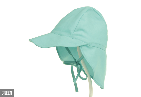 Baby Anti-UV Protection Beach Cap - Two Sizes & Eight Styles Available