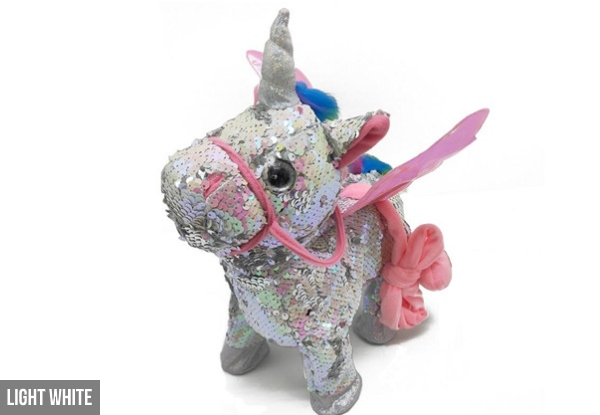 Walking, Dancing & Singing Interactive Glitter Unicorn Toy - Six Colours Available