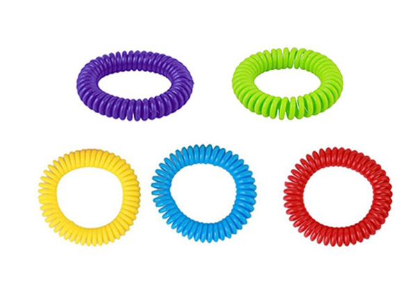 10-Pack of 240-Hour Insect Repellent Bracelets - 20-Pack Option Available & Free Delivery