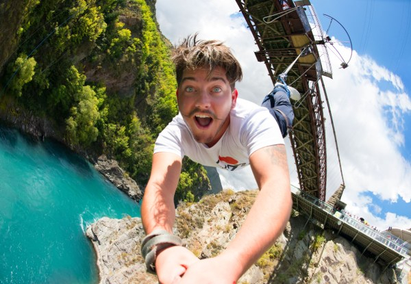 Kawarau Bridge Bungy for One Person incl. Bungy Cafe Voucher  - Option for Tandem Jump for Two People - Valid from March 9th 2021