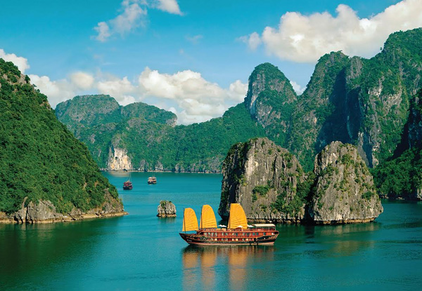 Per-Person Double or Twin-Share 10-Day North & Central Vietnam Tour with Three or Four Star Accommodation incl. Domestic Flights,  Guide, Air Con Transport & More