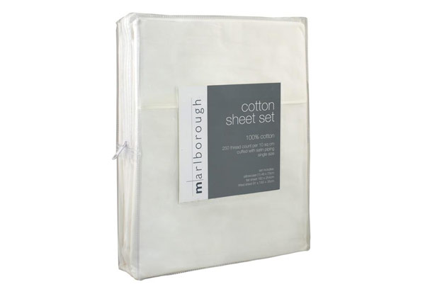 White 100% Cotton Single Sheet Set