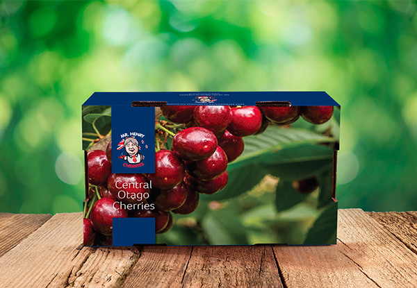 2kg Box of Fresh Central Otago Premium Quality Mr Henry Cherries Delivered to Your Door in time for Christmas from 15th December 2020 - Options for Post-Christmas & New Year Deliveries from 31st December 2020 Onward