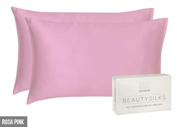 Canningvale Beautysilks Pillowcase Twin-Pack incl. Nationwide Delivery - Two Colours Available