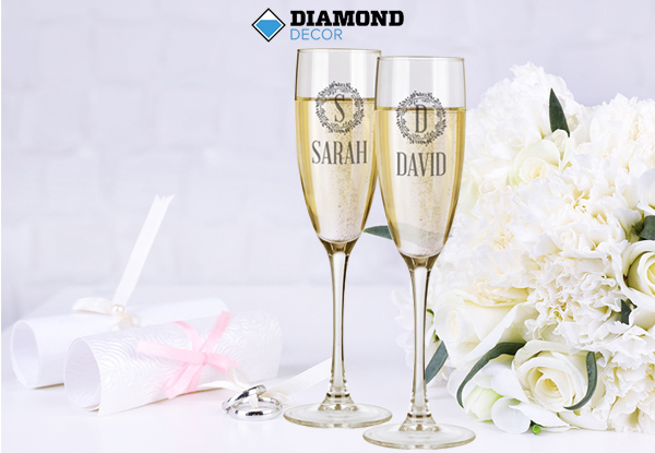 $19 for a Personalised Single Wine Glass or $35 for a Double Wine or Champange Glass Set incl. Nationwide Delivery