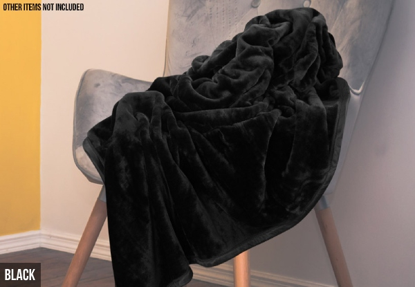 Mink-Feel Blanket  - Two Colours Available