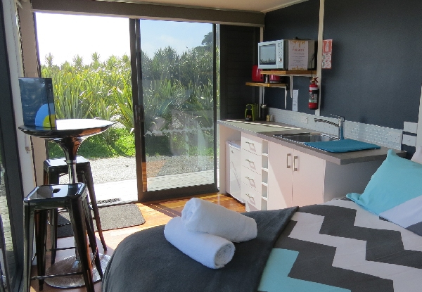 Two-Night Unique Beachfront Stay for Two People in an Up-Cycled Shipping Container Apartment Pod incl. One Breakfast, Bike Hire, Late Checkout & Complimentary Entry to the Westcoast Treetop Walkway - Other Accommodation Options Available