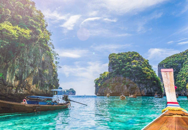Per-Person, Twin-Share Eight-Night Phuket & Phi Phi Islands Stay incl. Flights, Accommodation & Ferry Transfers - Options to Fly from Auckland or Wellington