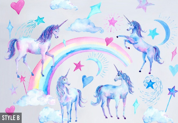 Unicorn Wall Sticker Art - Two Styles Available
