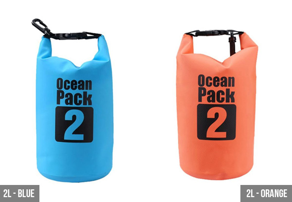 Water Resistant Dry Bag - Four Sizes & Colours Available