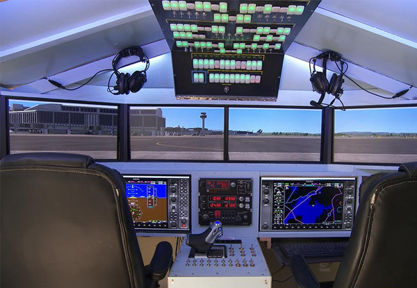 One-Hour Virtual Flight Simulation for One Person - Option for Two Hours